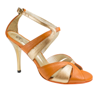 Ref 293 orange leather Vibranto Shoes
