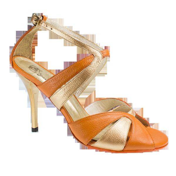 Ref 293 orange leather Vibranto Shoes