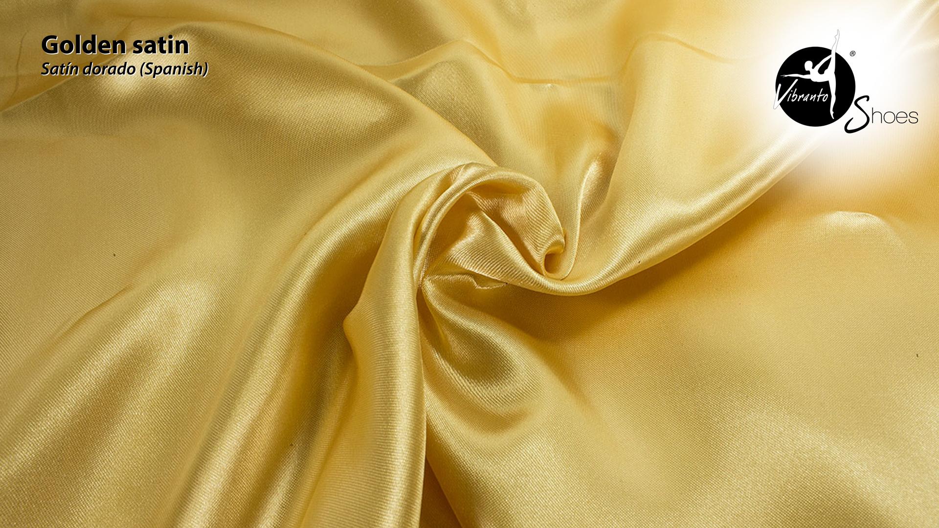 Golden satin material - Vibranto Shoes