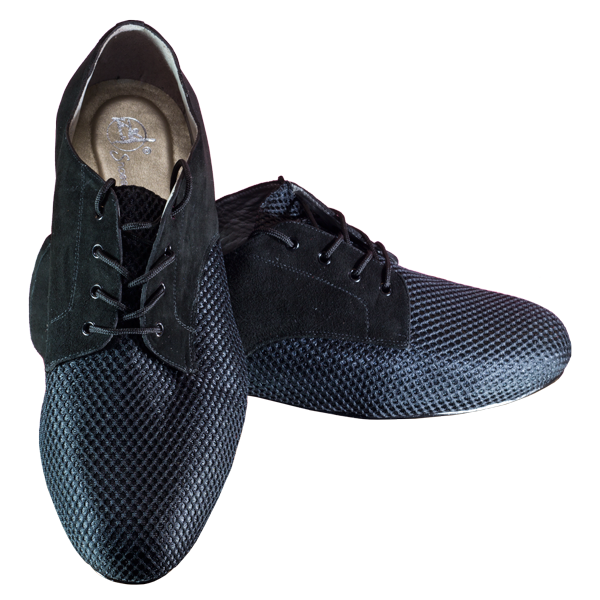 Vibranto Shoes Ref 302 in black mesh and black suede. Stylish menshoes online in Australia.