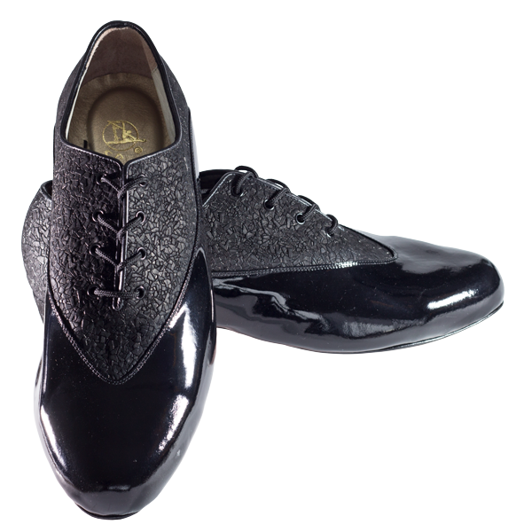 Ref 304 men shoes in black topaz and black patent leather