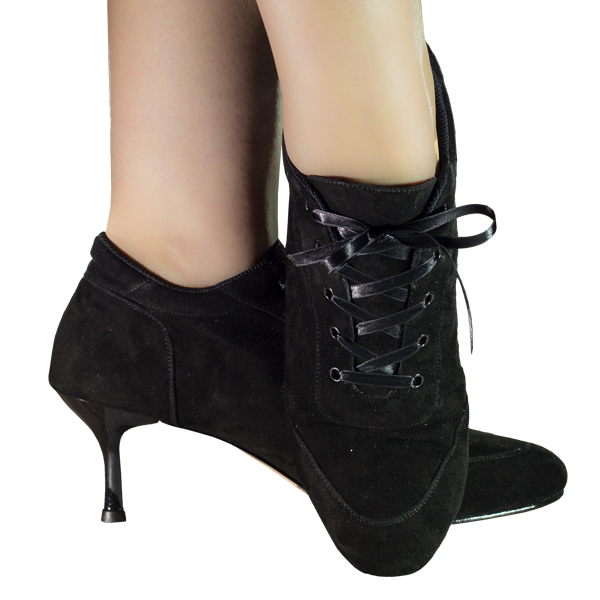 Vibranto women Shoes Ref 268 in black suede leather with black heels