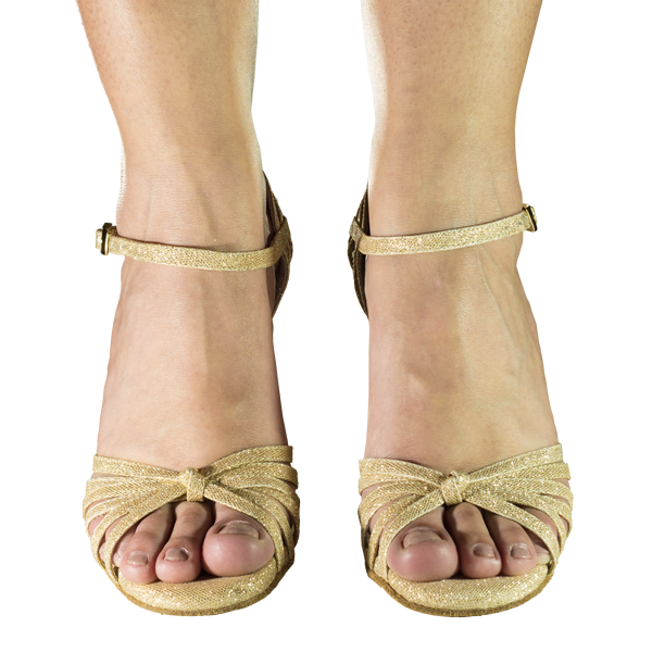 Ref 249 Gold beehive lame leather - Vibranto Shoes
