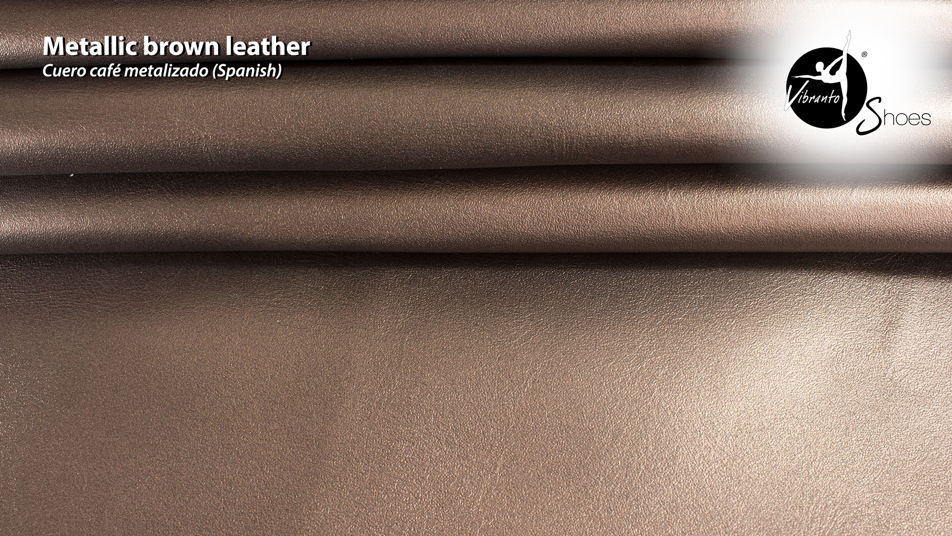 Metallic brown leather material Vibranto Shoes